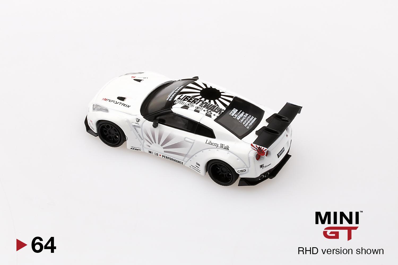 rhd mini GT lb-Works Nissan GT-R Type 1-White r35 - 1:64 #mgt00064-r