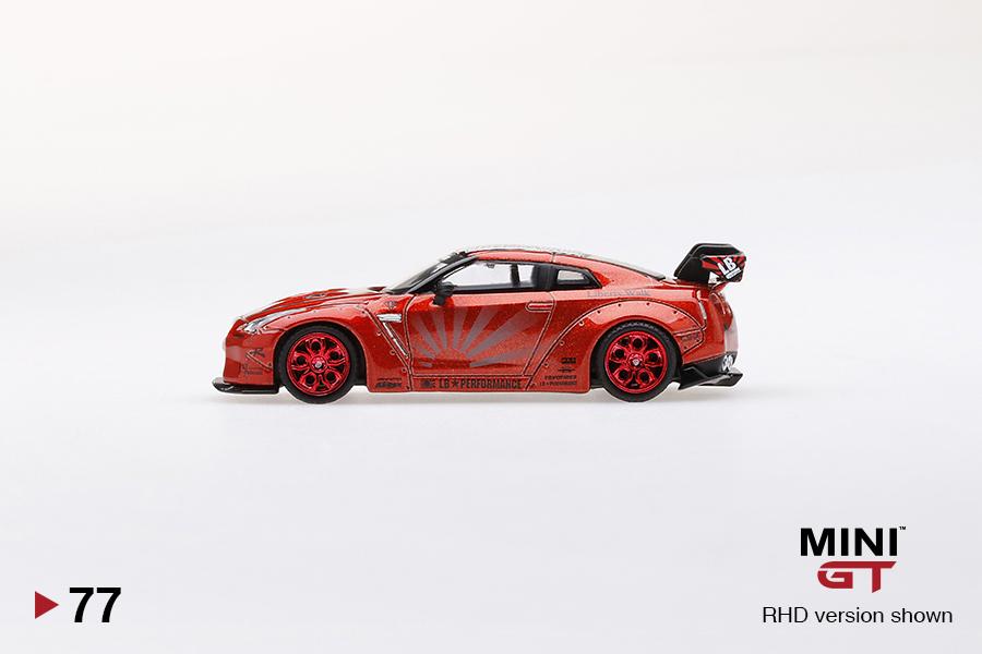 Candy Red - 1:64 rhd mini GT lb-Works Nissan GT-R #mgt00077-r r35