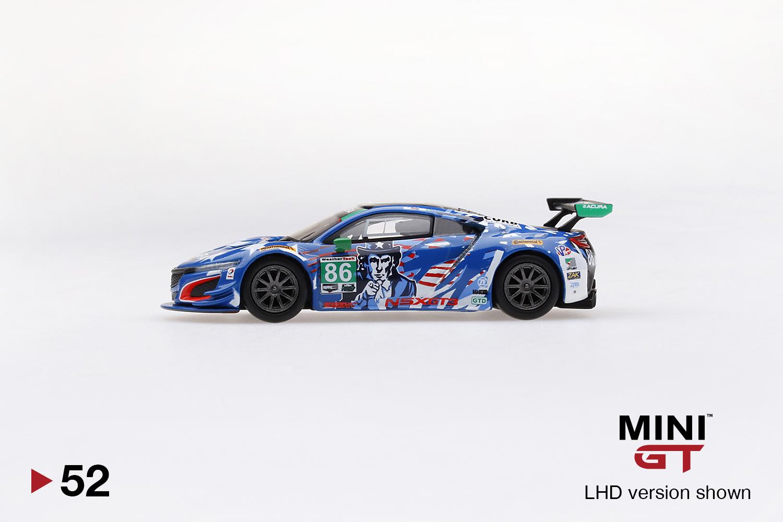 #mgt00052-l mini GT Acura NSX gt3 #86 IMSA watking Glen 2017-1:64