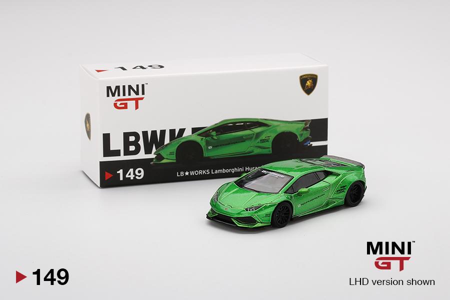 TSM Model Mini-GT Overseas Box LHD LB-WORKS Green LAMBORGHINI HURACAN Version 2