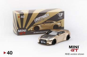 LB★WORKS Nissan GT-R (R35) Satin Gold w/ Carbon