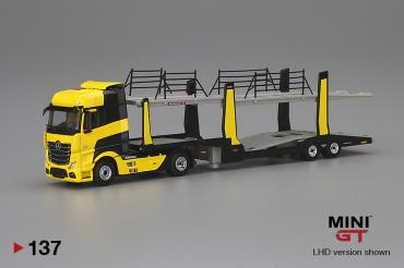 Mercedes-Benz Actros  Yellow w/Car Carrier