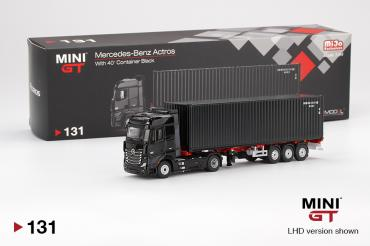 Mercedes-Benz Actros w/ 40 Ft Container   Black