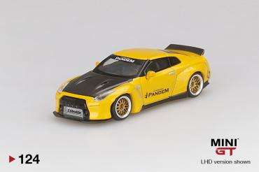 Pandem Nissan GT-R (R35) Duck Tail Metallic Yellow w/ Carbon
